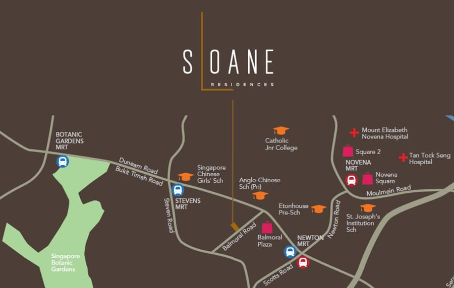Sloane Residences Location Map