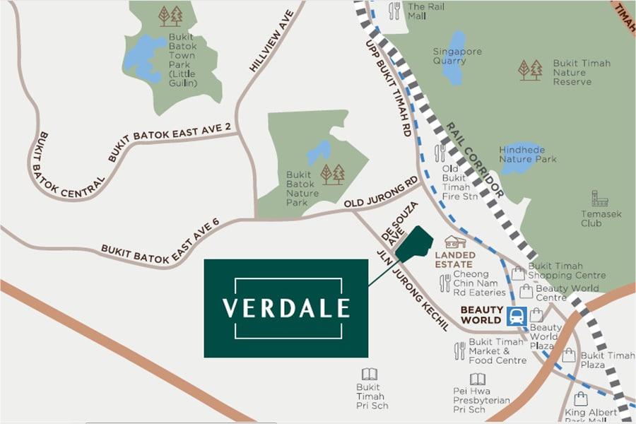 Verdale Location Map