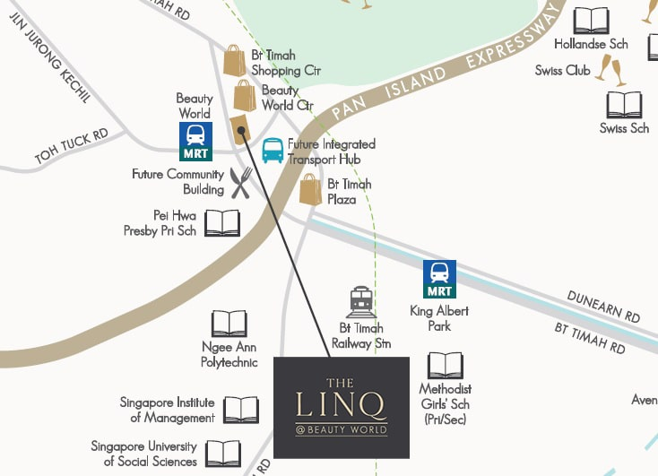 Linq at Beauty World Location Map