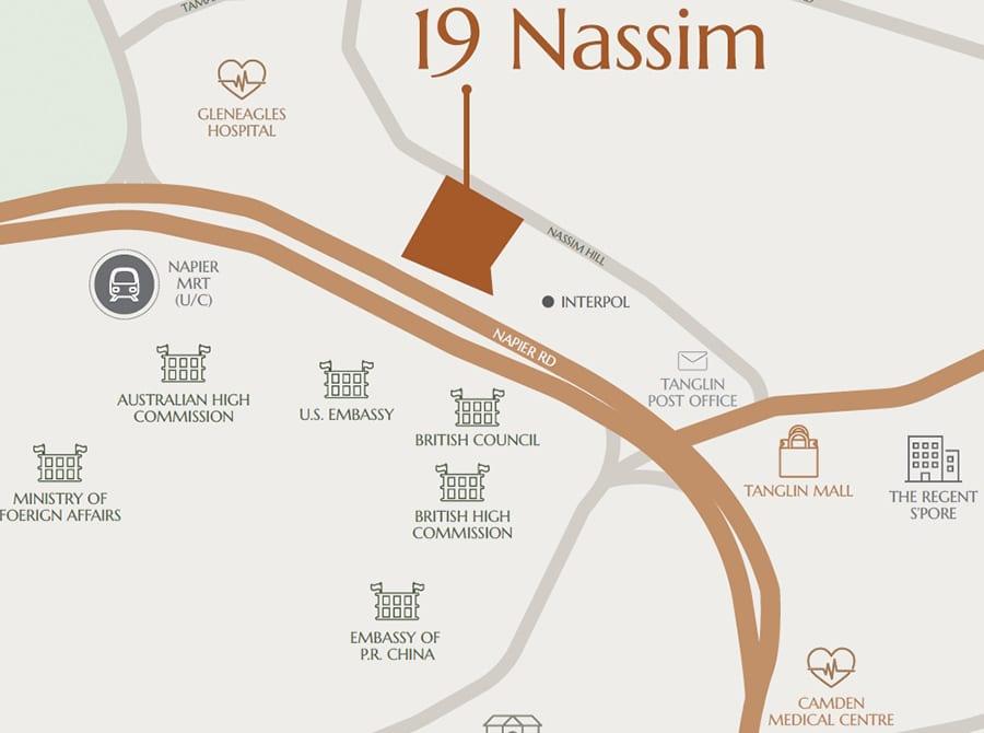 19 Nassim Condo Location Map
