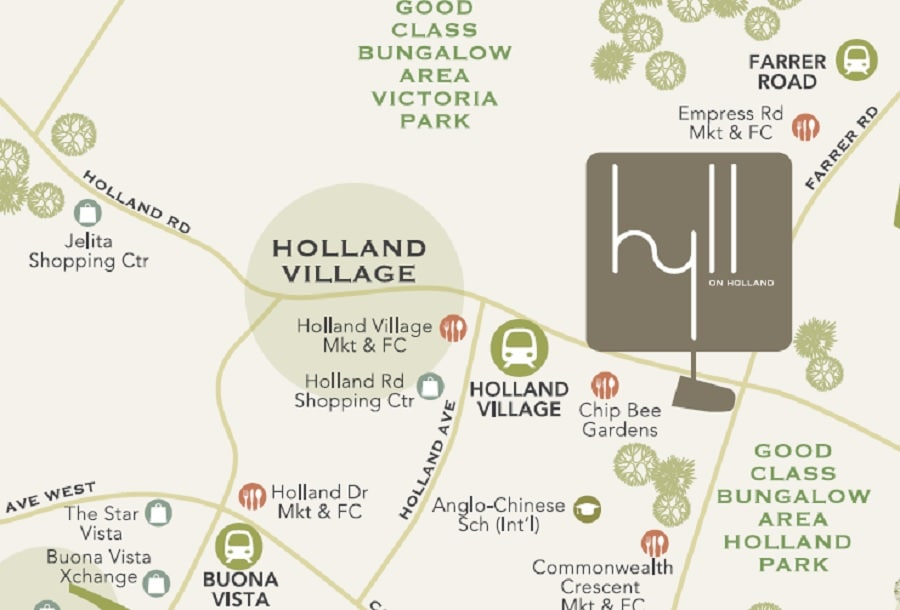 Hyll on Holland Location Map