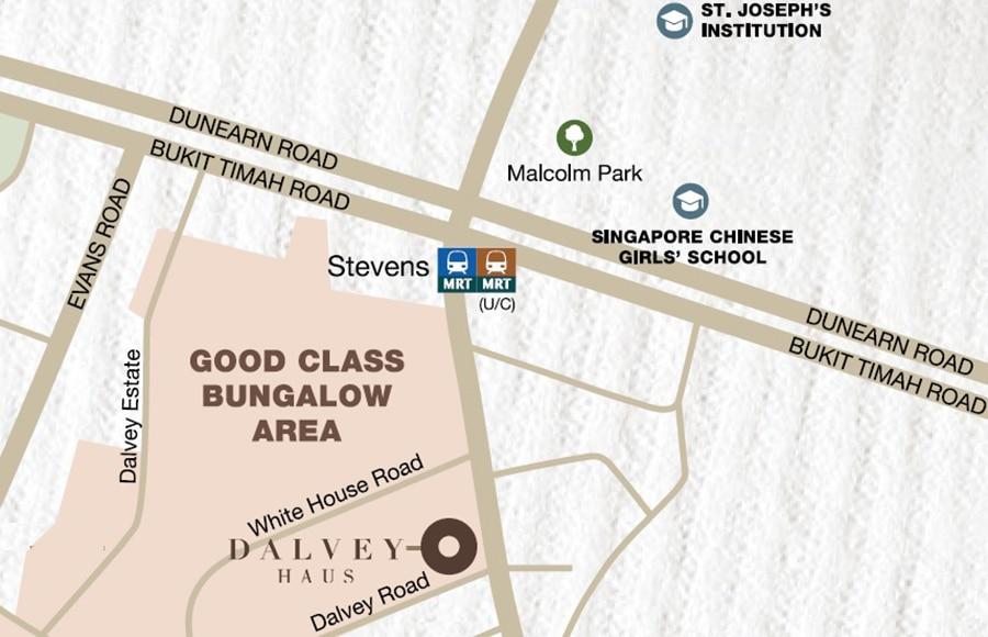 Dalvey Haus Location Map1