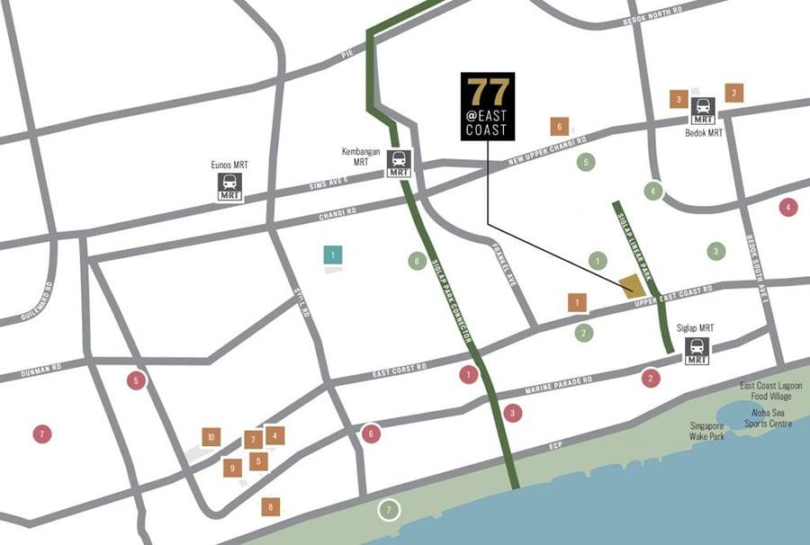 77 @ East Coast Location Map
