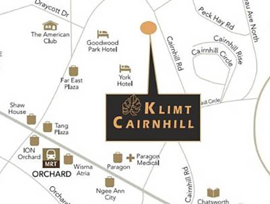Klimt Cairnhill Location Map 1