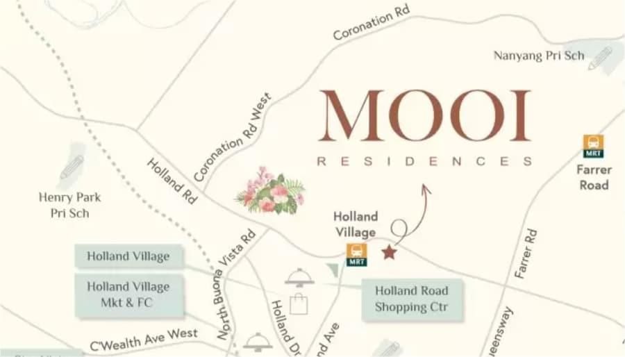 Mooi Residences Location Map