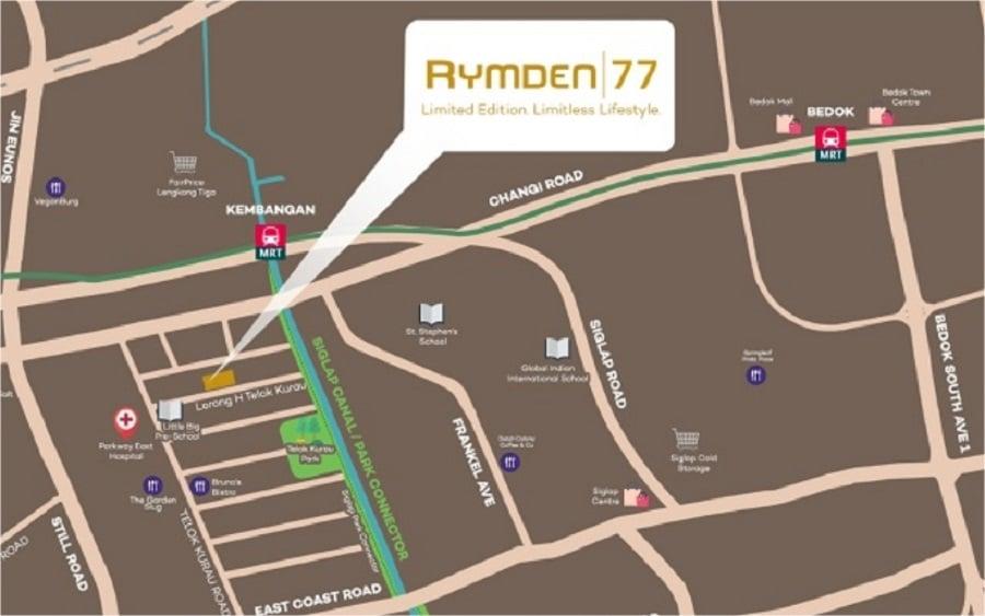 Rymden 77 Location Map
