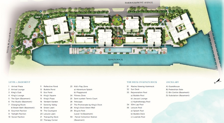 The Reef @ King's Dock Site Plan 1