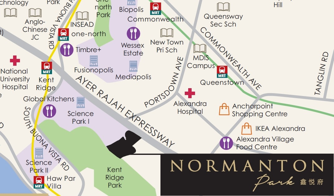 Normanton Park Location Map