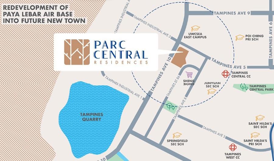 Parc Central Residences EC Location Map