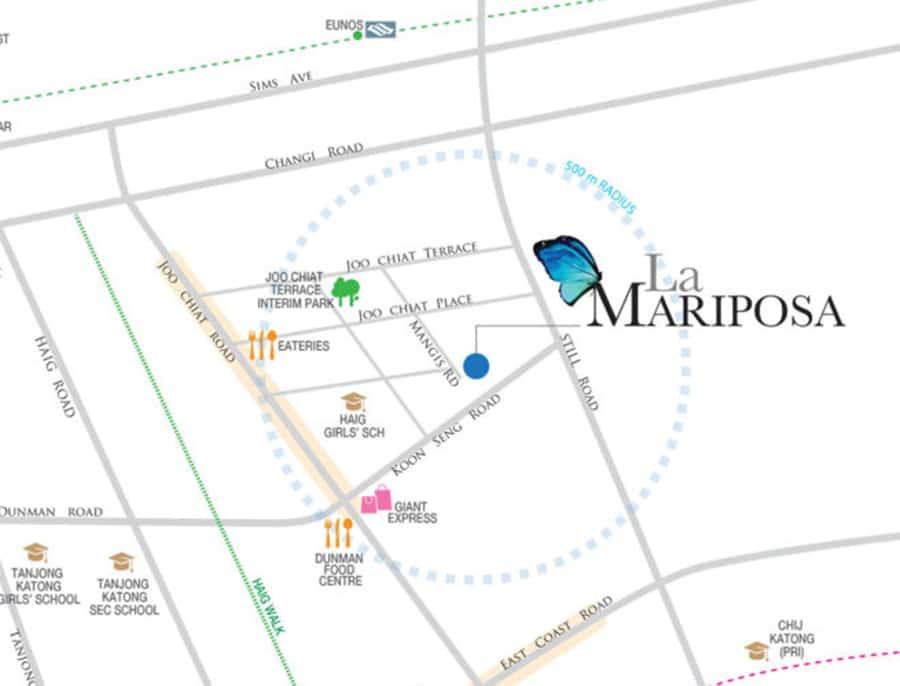 La Mariposa Location Map
