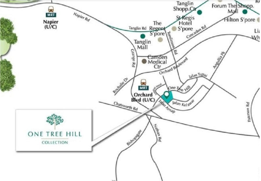 One Tree Hill Collection Location Map