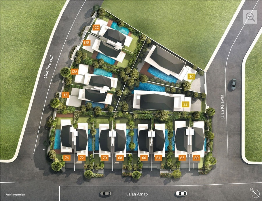 One Tree Hill Collection Site Plan